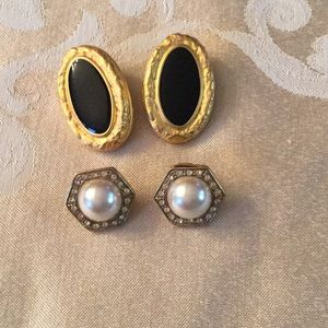 2 pairs of costume earrings for pierced ears.